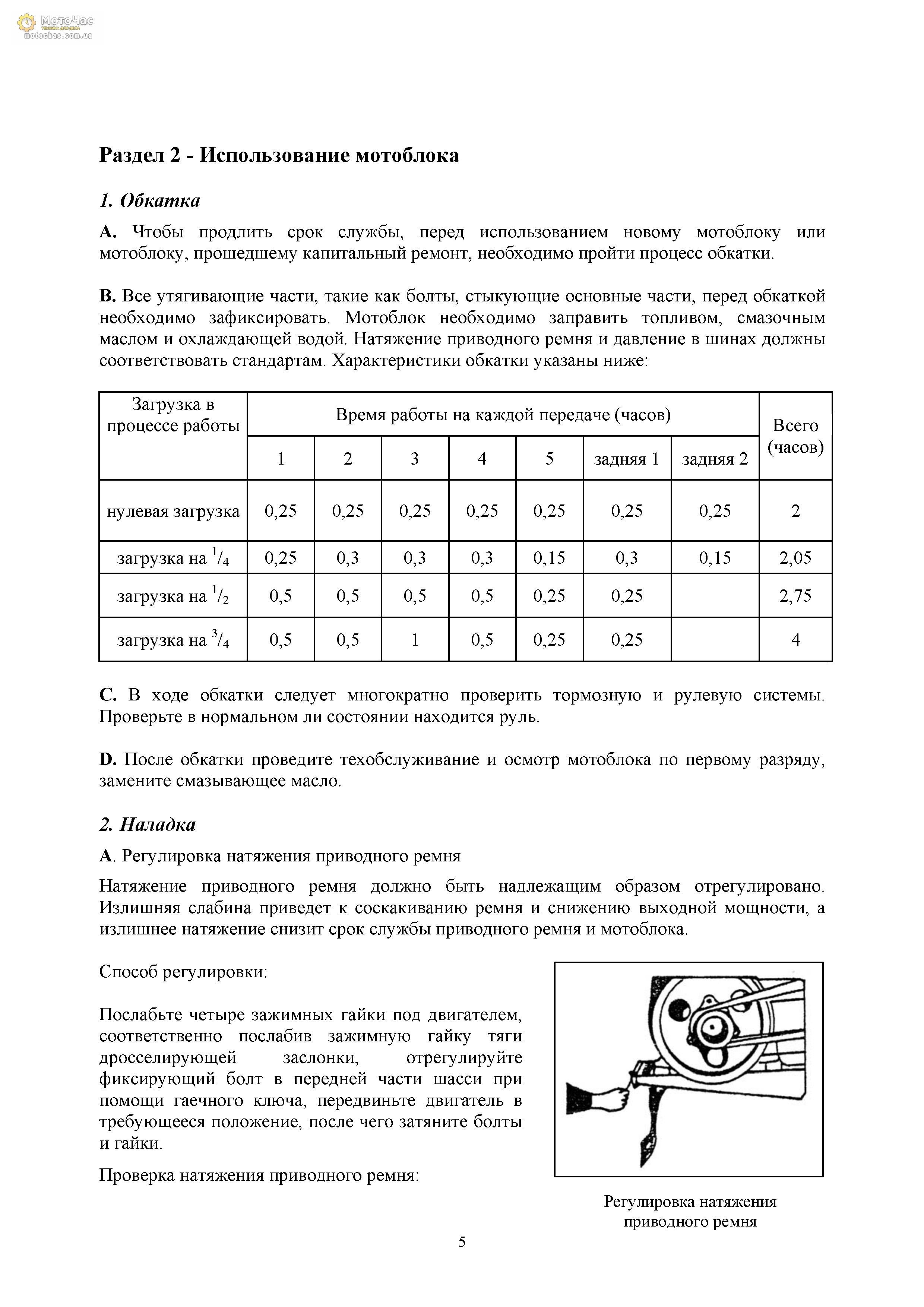 Инструкция по эксплуатации мотоблок зубр
